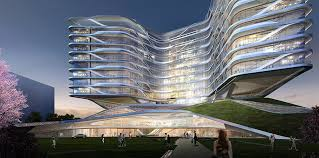 building concept futuristic building design concept on unique shanghai hospital01