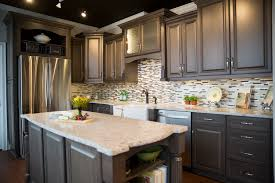 tile countertops rustic hickory kitchen cabinets lighting flooring