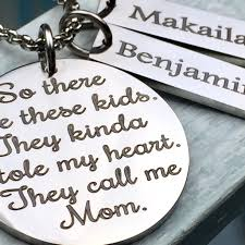 Personalized Script Necklace These Kids Stole My Heart Personalized Script Necklace Gift For