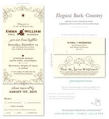 Send And Seal Wedding Invitations Wine Country Wedding Invitations On Seeded Paper Elegant Back