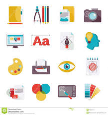 design icons graphic design icons flat stock vector image 46201717