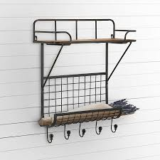 industrial wall shelving farmhouse and vintage decor