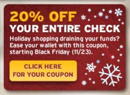 black friday christmas card deals denny u0027s black friday coupon save 25 off your check holiday