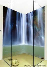 3d wallpaper long waterfall water wall murals bathroom decals wall
