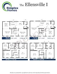 Quick Floor Plan Simplex Homes 2 Story Modular Home Ellensville I