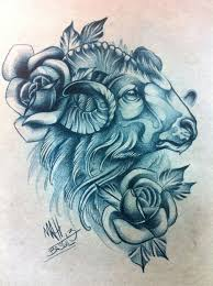 aries sign tattoo drawing pictures to pin on pinterest tattooskid