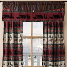 Rustic Curtains And Drapes Rustic Cabin Curtains Valances Cabin Place