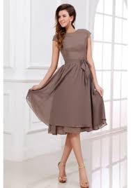 simple a line scoop prom dress with short sleeves knee length us