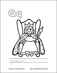 Letter Q Coloring Book Free Printable Pages Coloring Pages Q