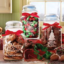 personalized christmas gifts personalized christmas treat jars set of 3 walmart com