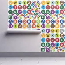 subway wall decal letters wallpaper sammyk spoonflower 64 roll l