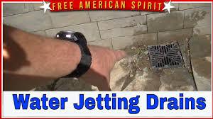 water jetting drain cleaning floor drain basement drain canadaigua