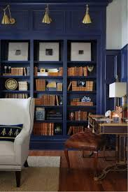 furniture home billy bookcase with glass doors dark blue 3
