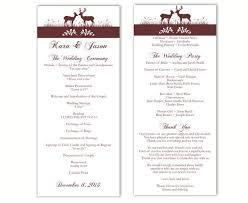 wedding invitation program wedding program template diy editable word file instant