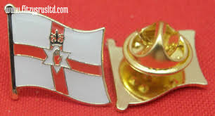 ireland flag lapel hat cap tie pin badge red hand of ulster brand new