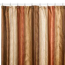 Colored Shower Curtain Manor Hill皰 Copper Fabric Shower Curtain
