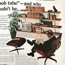 retro chair and ottoman eames lounge chair and ottoman in an advertisement vintage