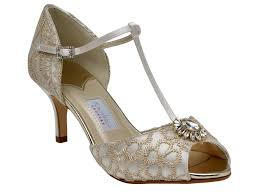 wedding shoes exeter rainbow club ivory satin gold embroidered t bar wedding