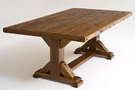 trestle base dining table trestle table base rustic trestle dining table reclaimed old wood