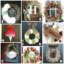 country cottage decor front door wreath daisies summer 9500 ideas