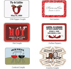 labels for wedding favors turnin up the heat personalized hot sauce set of 12 my