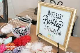 how to make baby headband shower headband station the ribbon retreat