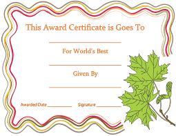 award certificate samples create free certificates gift award marriage certificate templates