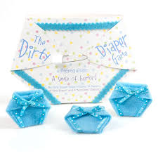 amazon com the dirty diaper game baby shower game blue 10