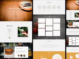 menu design resources restaurant landing page template for sketch app sketch freebie