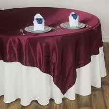 party table covers 60 satin square overlay for wedding catering party table burgundy