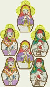 advanced embroidery designs russian doll ornaments
