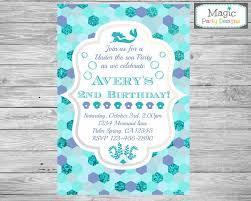 mermaid invitation mermaid birthday invitation under the sea