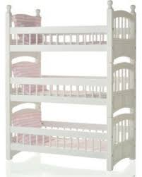 Amazing Deal On  Doll White Wooden Triple Detachable Bunk Bed - Triple bunk bed wooden