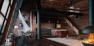 industrial loft industrial loft london by daniele boldi cotti 3d artist