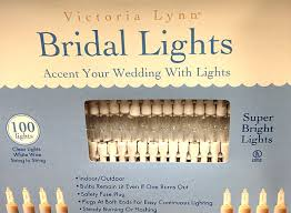 bridal lights with 100 clear bulbs and white wire electric