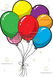 birthday balloons a bunch of colorful birthday balloons clipart vector