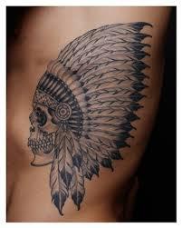indian headdress tattoo on ribs nice guy tattoo