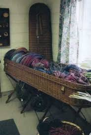 wicker casket baskets etc