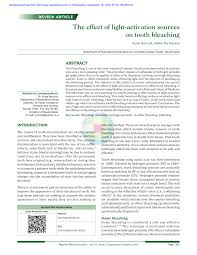 the effect of light activation sources on tooth bleaching pdf