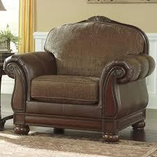 Marlo Furniture Liquidation Center by Signature Design By Ashley Beamerton Heights Chestnut Roll Arm