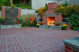 Simple Brick Patio With Circle Paver Kit Patio Designs And Ideas by Ideas Brick Patio Ideas For Creating The Valuable Outdoor