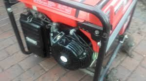 honda em5000s 5000 watt generator with electric start youtube
