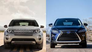 lexus vehicle range 2016 land rover discovery sport vs 2016 lexus rx 350 youtube