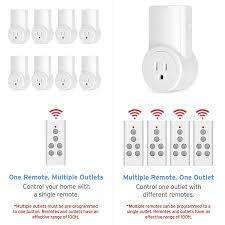 etekcity wireless remote control electrical outlet switch for