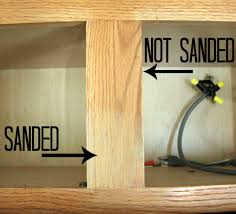 sanding paint off cabinets to paint cabinets