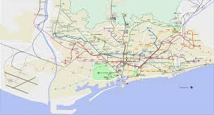 Barcelona Subway Map by