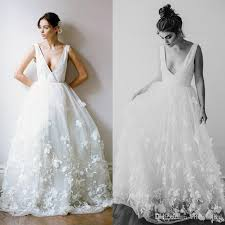 wedding dress outlet discount summer fashion wedding dress with 3d floral