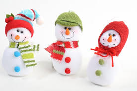 fleece winter snowman ornaments ornaments