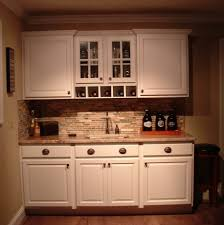 cool white color wooden amish kitchen cabinets featuring double