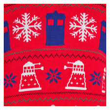 doctor dr who jumper tardis daleks winter sweater